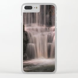 Penllergare Valley waterfall Clear iPhone Case