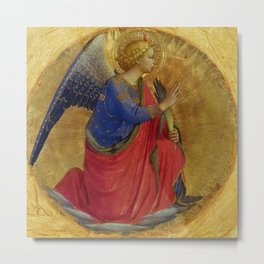 "Fra Angelico (Guido di Pietro) ""Perugia Altarpiece – Angel of the Annunciation"" Metal Print"