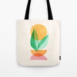Summer Stack / Abstract Plant Illustration Tote Bag