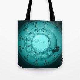 The dialer dials blue Tote Bag