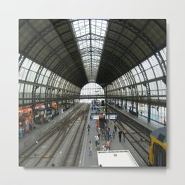 Inside Amsterdam Railway Station Metal Print
