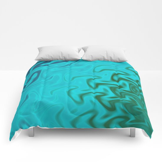 Ripples Fractal in Tropical Seas Comforters