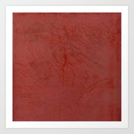 Tuscan Red Stucco - Rustic Glam Art Print