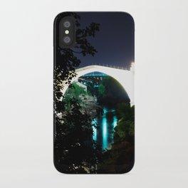 the old bridge at night iPhone Case