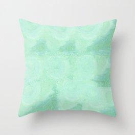 Blue Gray Cotton Fluff Throw Pillow