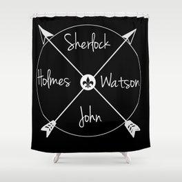 Holmes'Watson(white) Shower Curtain