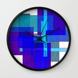 Squares combined no. 3 Wall Clock