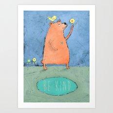Be Kind Art Print