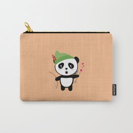 Panda valentine Archer T-Shirt for all Ages Dozgw Carry-All Pouch