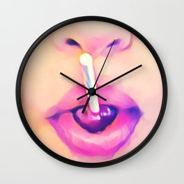 Lollipop Pink Wall Clock