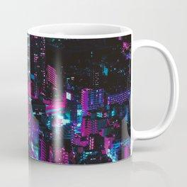 Cyberpunk Vaporwave City Coffee Mug