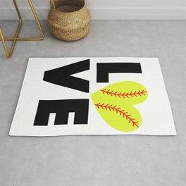 Love Softball Rug