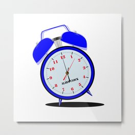 Ringing Loudly Alarm Clock Metal Print