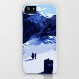 Tardis Art At The Snow Mountain iPhone Case