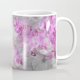 CHERRY BLOSSOMS ORCHIDS AND MAGNOLIA IMPRESSIONS IN PINK GRAY AND WHITE Coffee Mug