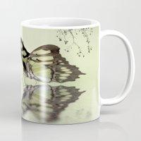 malachite Mugs featuring Malachite reflection by Lyn Evans