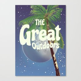 The Great Outdoors Moon Canvas Print