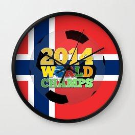 2014 World Champs Ball - Norway Wall Clock