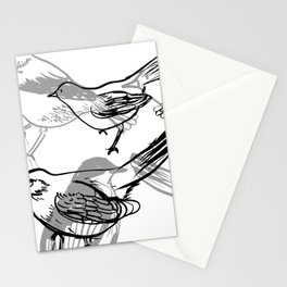 Painty birds Stationery Cards