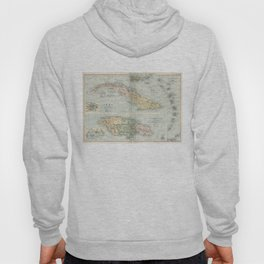 Vintage Map of Cuba and Jamaica (1892)  Hoody