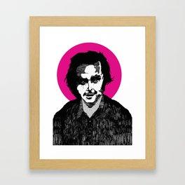 Jack nicholson  shining macabre art Framed Art Print