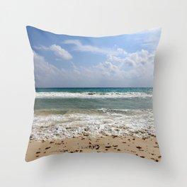 Playa del Carmen Beach Throw Pillow
