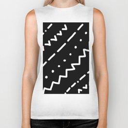 Printed Diagonals Biker Tank
