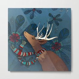 Magic Deer Metal Print