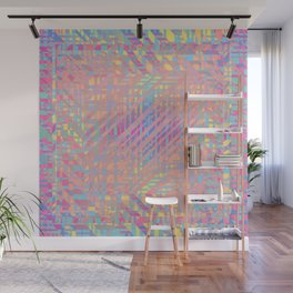 Diagonal fragmentation Wall Mural
