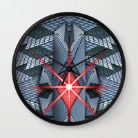 the office Wall Clocks featuring Star office by Cozmic Photos