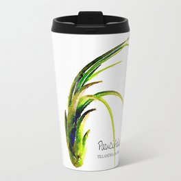 Tillandsia Paucifolia Air Plant Watercolors Travel Mug