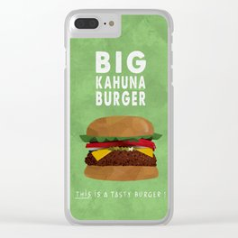 PULP FICTION - big kahuna burger Clear iPhone Case