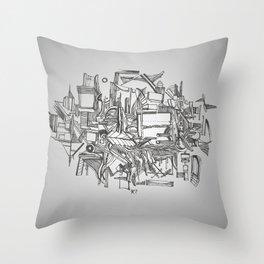 Simetria Assimétrica Throw Pillow