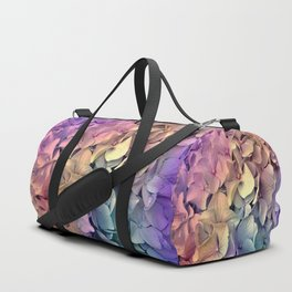 Soft Multi Color Hydrangea Duffle Bag