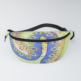 Paint strokes tropical patterns Fanny Pack