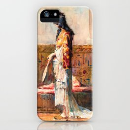 A Moroccan Woman In Traditional Dress - Digital Remastered Edition iPhone Case
