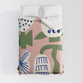 Flower illustration pink 21 Comforters