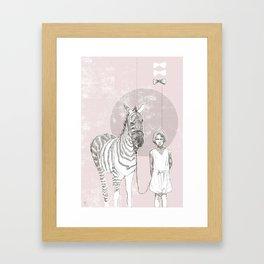 My Pet Zebra Framed Art Print