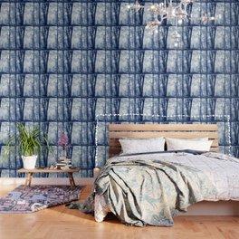 Blue Birch Forest Wallpaper