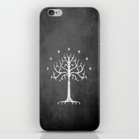 gondor iPhone & iPod Skins featuring White Tree of Gondor by Nxolab