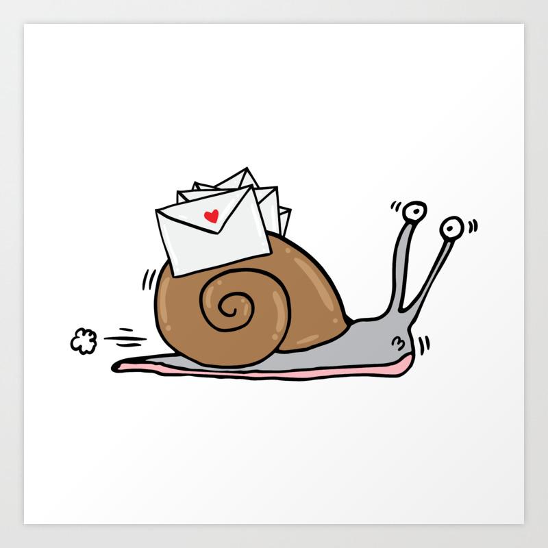Snail Mail Art Print by adrianserghie   Society6