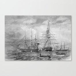 U.S. Naval Fleet During The Civil War Canvas Print
