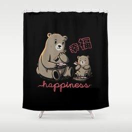 Happiness Sushi Shower Curtain