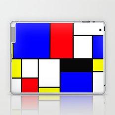 Red Blue Yellow Geometric Squares Laptop & iPad Skin