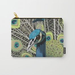 Hank the Peacock Carry-All Pouch