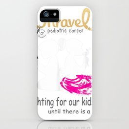 unravel pediatric cancer childhood cancer awareness advocate tee tee iPhone Case