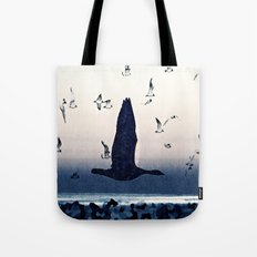 The goose and the seagulls Tote Bag