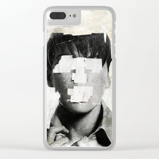 Faceless | number 02 Clear iPhone Case