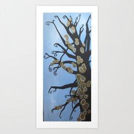 Copper Moss Art Print