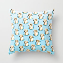 Labrador Retriever Print Throw Pillow